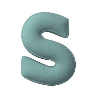 Buchstabenkissen S von der Kollektion Posh Velvet, Stoff: 704-18