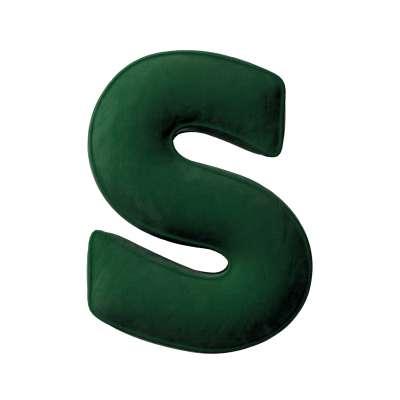 Buchstabenkissen S von der Kollektion Posh Velvet, Stoff: 704-13