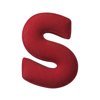 Buchstabenkissen S von der Kollektion Posh Velvet, Stoff: 704-15