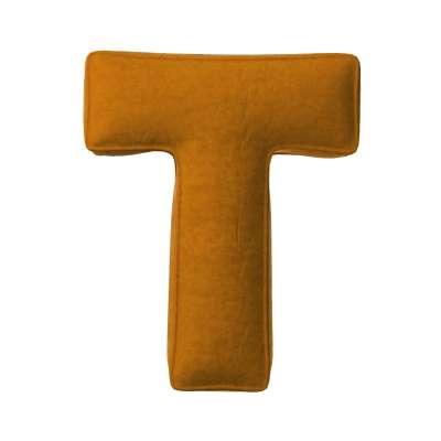 Buchstabenkissen T von der Kollektion Posh Velvet, Stoff: 704-23