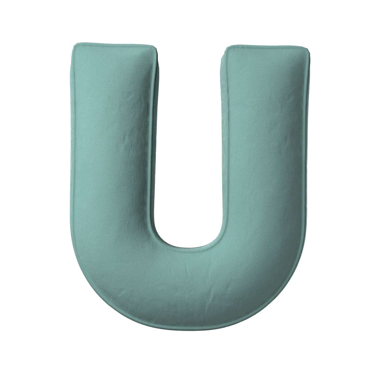 Buchstabenkissen U von der Kollektion Posh Velvet, Stoff: 704-18