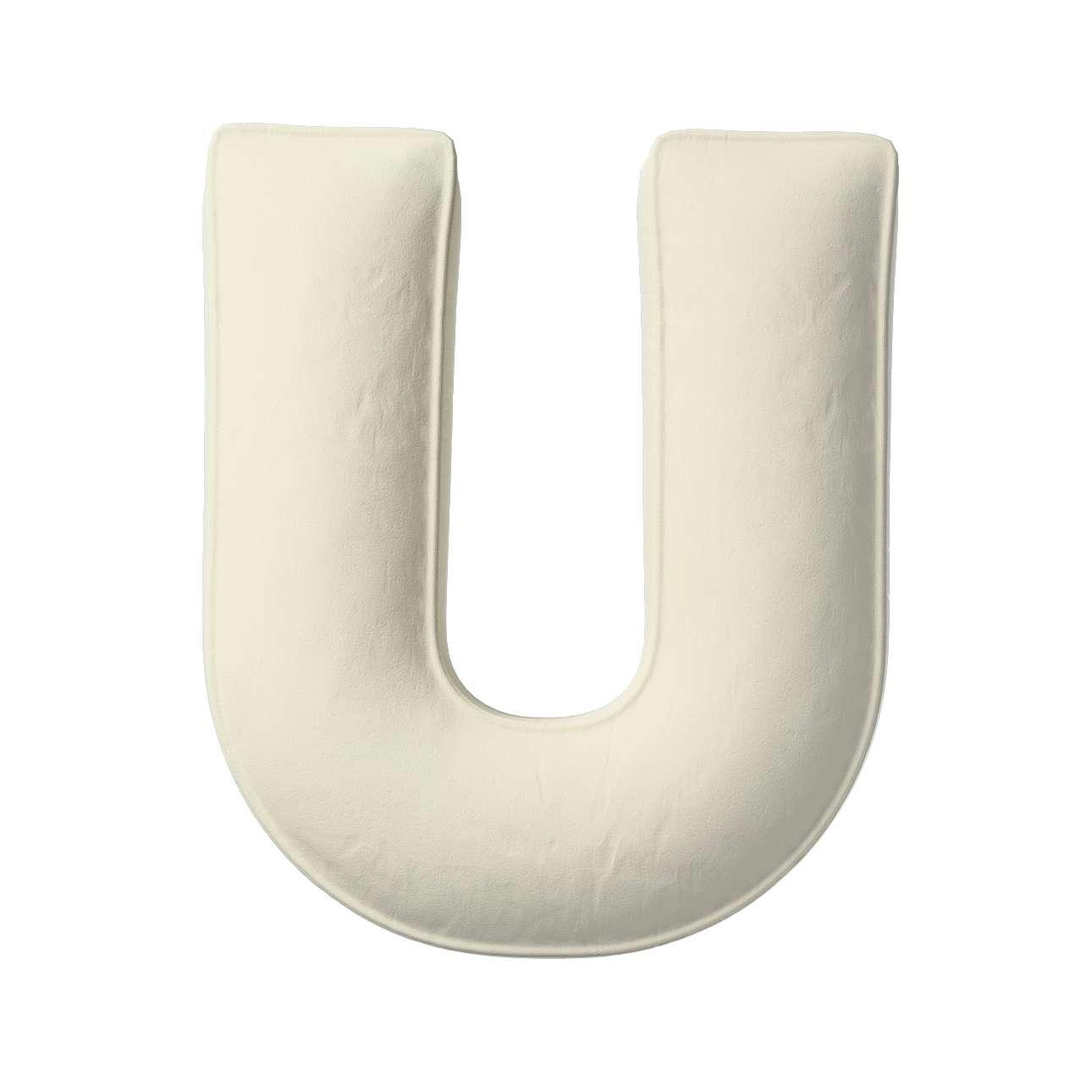 Buchstabenkissen U von der Kollektion Posh Velvet, Stoff: 704-10