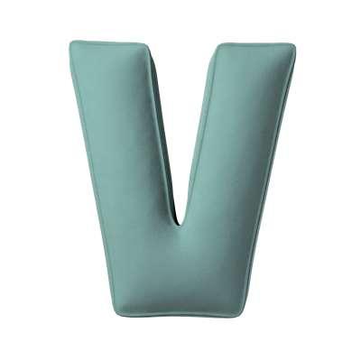 Letter pillow V 704-18 dusty mint green Collection Posh Velvet