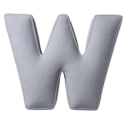 Raidė pagalvėlė W kolekcijoje Posh Velvet, audinys: 704-24