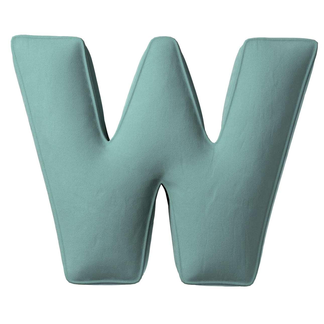 Buchstabenkissen W von der Kollektion Posh Velvet, Stoff: 704-18