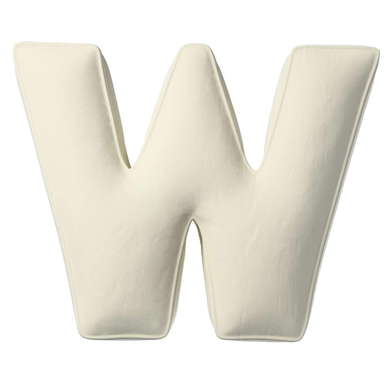 Buchstabenkissen W von der Kollektion Posh Velvet, Stoff: 704-10