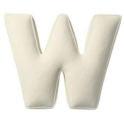 Raidė pagalvėlė W kolekcijoje Posh Velvet, audinys: 704-10