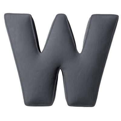 Raidė pagalvėlė W kolekcijoje Posh Velvet, audinys: 704-12