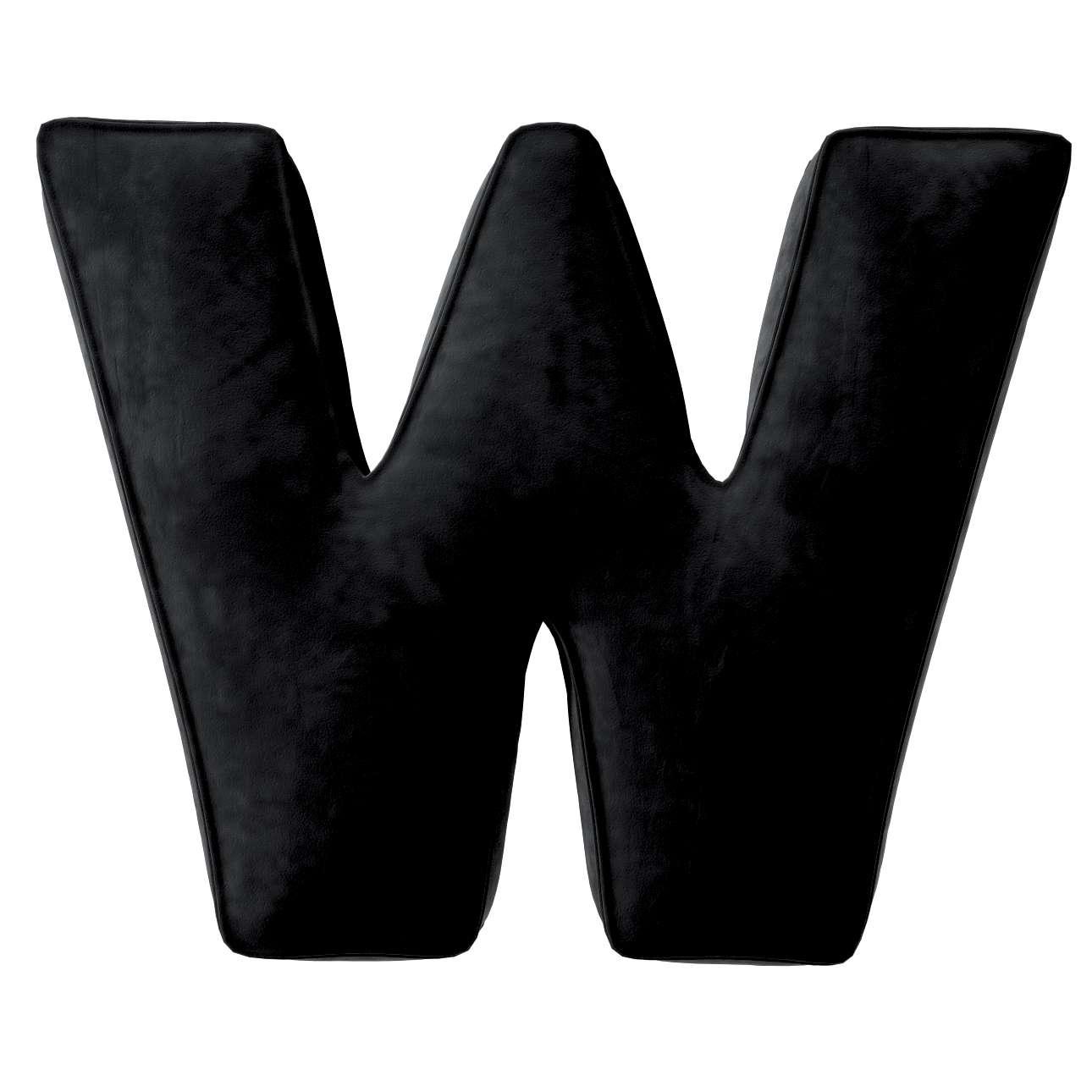 Buchstabenkissen W von der Kollektion Posh Velvet, Stoff: 704-17
