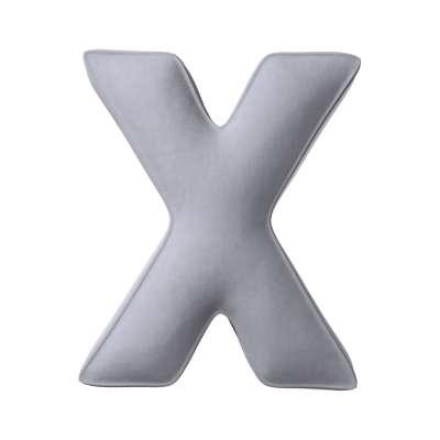 Raidė pagalvėlė X kolekcijoje Posh Velvet, audinys: 704-24