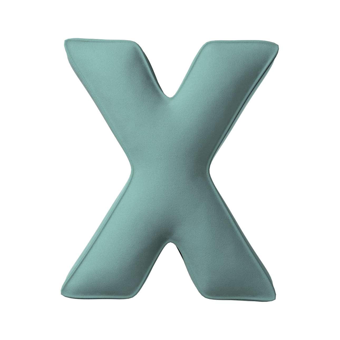 Raidė pagalvėlė X kolekcijoje Posh Velvet, audinys: 704-18
