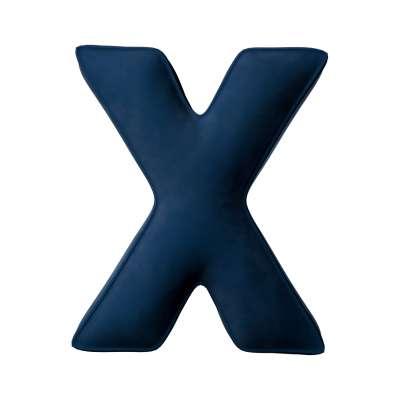 Raidė pagalvėlė X kolekcijoje Posh Velvet, audinys: 704-29