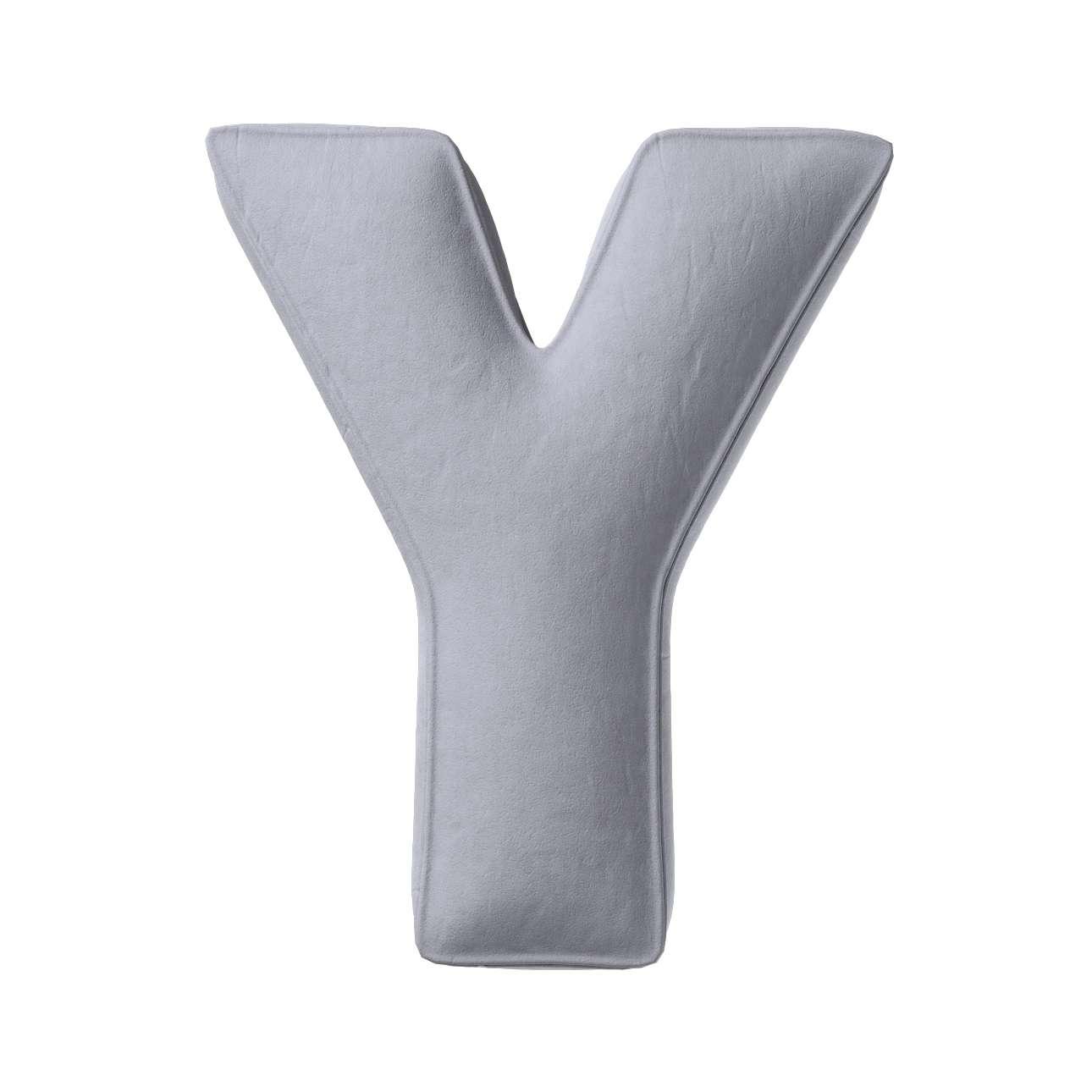 Buchstabenkissen Y von der Kollektion Posh Velvet, Stoff: 704-24