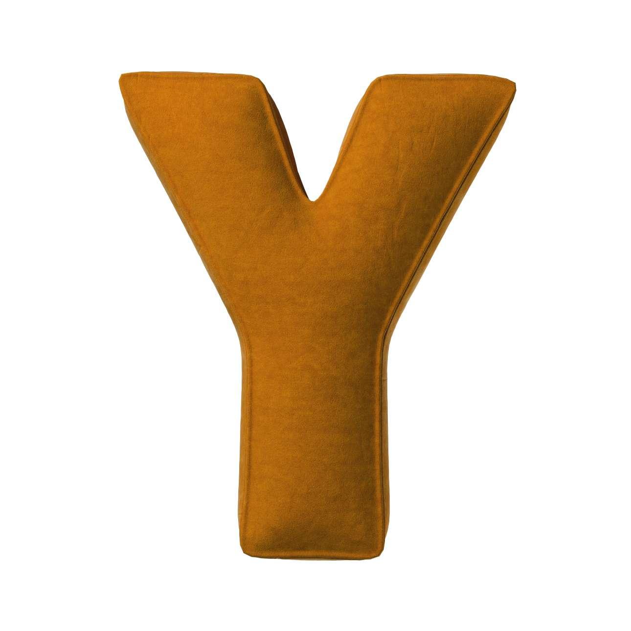 Raidė pagalvėlė Y kolekcijoje Posh Velvet, audinys: 704-23