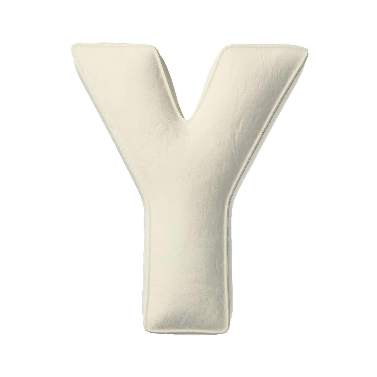 Raidė pagalvėlė Y kolekcijoje Posh Velvet, audinys: 704-10