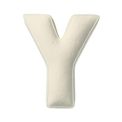 Buchstabenkissen Y von der Kollektion Posh Velvet, Stoff: 704-10