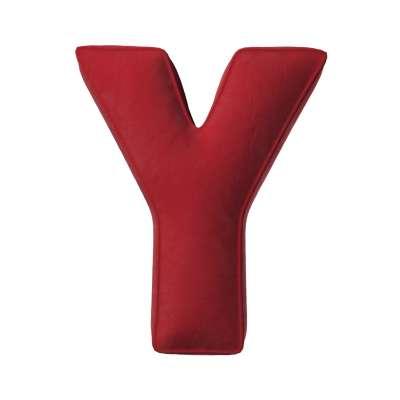 Buchstabenkissen Y von der Kollektion Posh Velvet, Stoff: 704-15