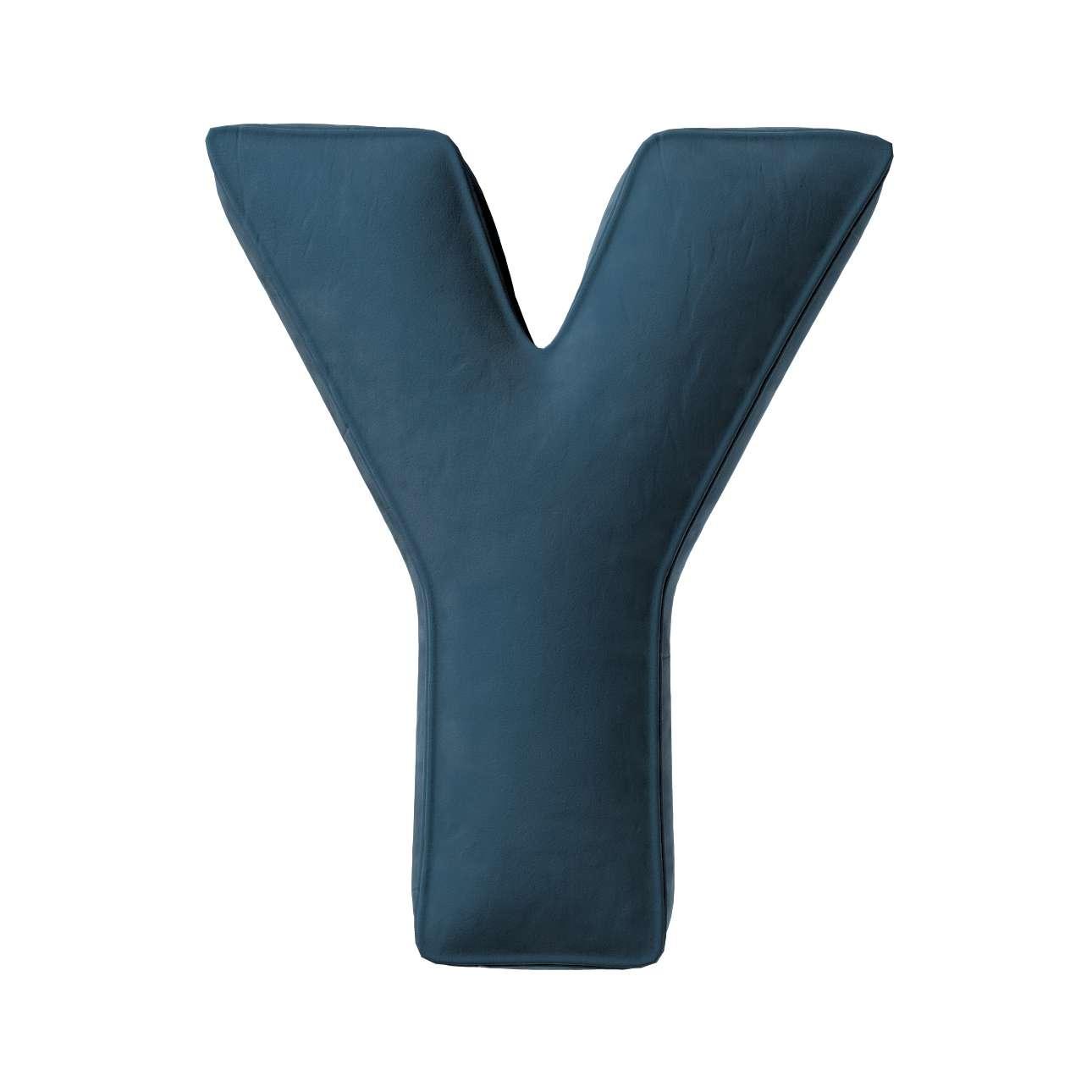 Buchstabenkissen Y von der Kollektion Posh Velvet, Stoff: 704-16