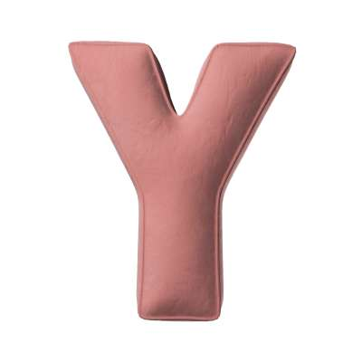 Buchstabenkissen Y von der Kollektion Posh Velvet, Stoff: 704-30