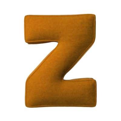 Buchstabenkissen Z von der Kollektion Posh Velvet, Stoff: 704-23