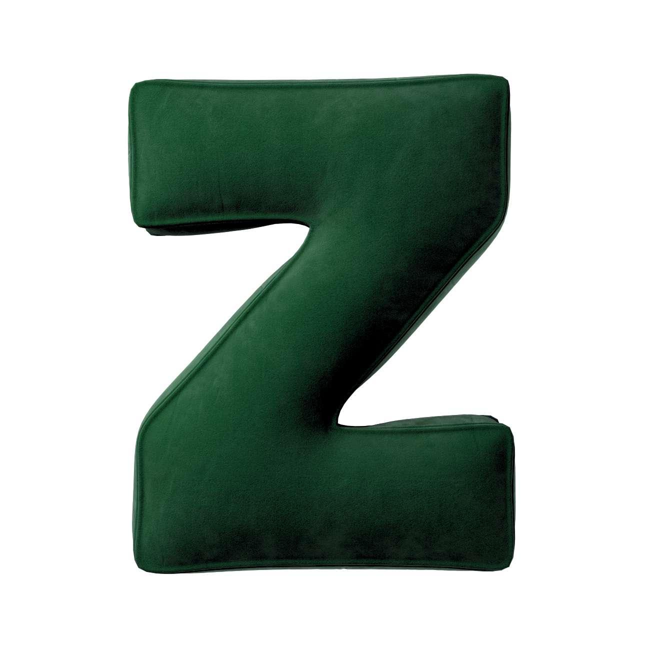 Buchstabenkissen Z von der Kollektion Posh Velvet, Stoff: 704-13