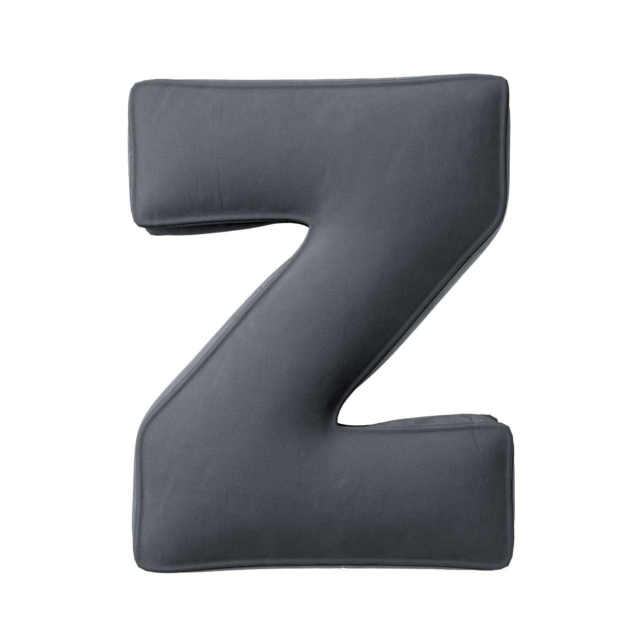 Buchstabenkissen Z von der Kollektion Posh Velvet, Stoff: 704-12