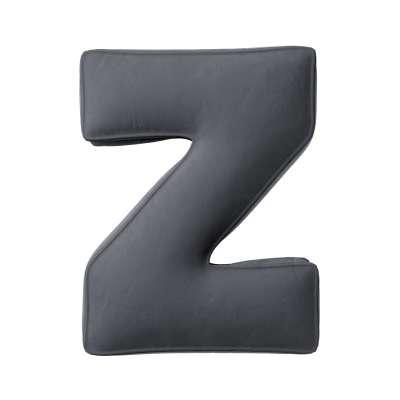 Raidė pagalvėlė Z kolekcijoje Posh Velvet, audinys: 704-12