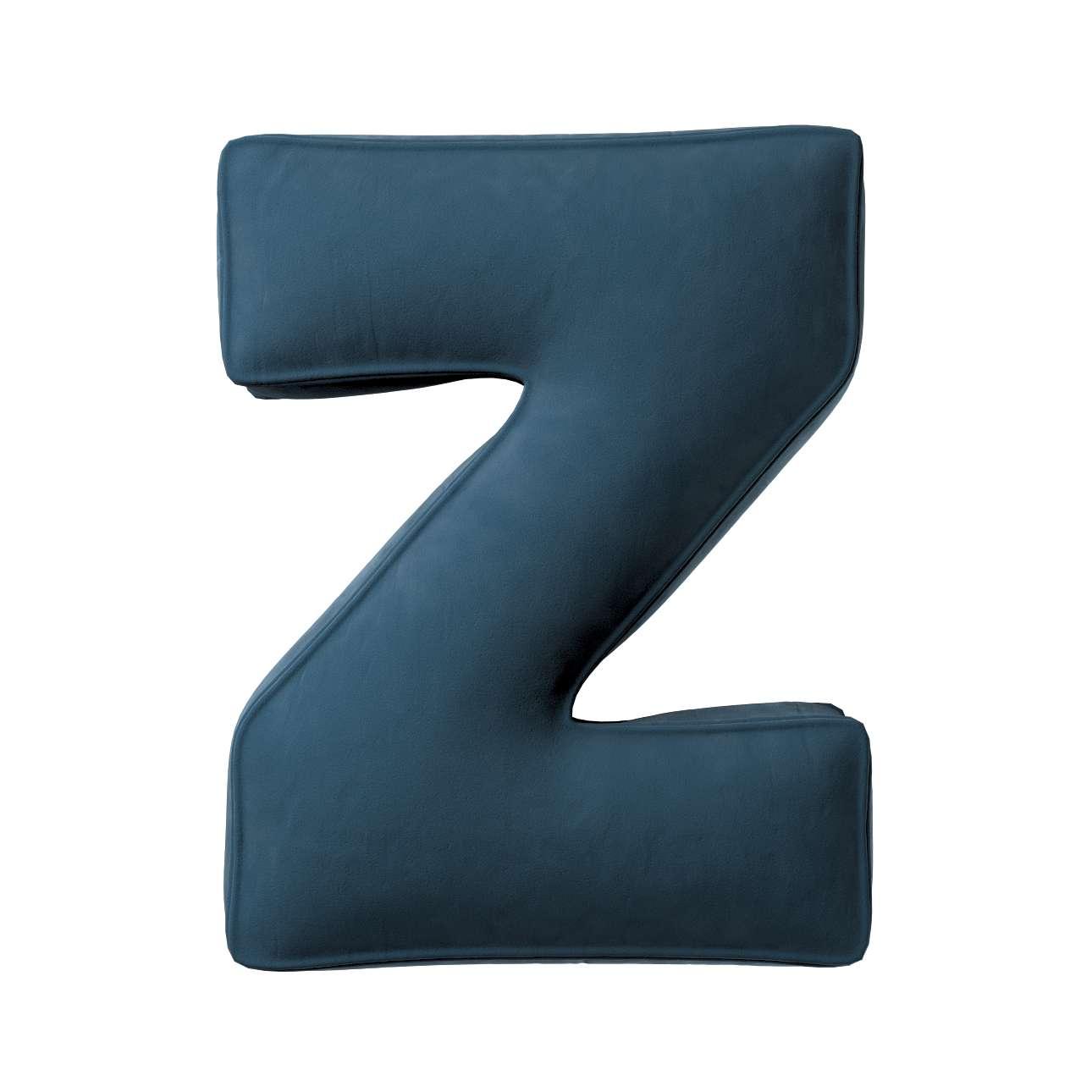 Buchstabenkissen Z von der Kollektion Posh Velvet, Stoff: 704-16