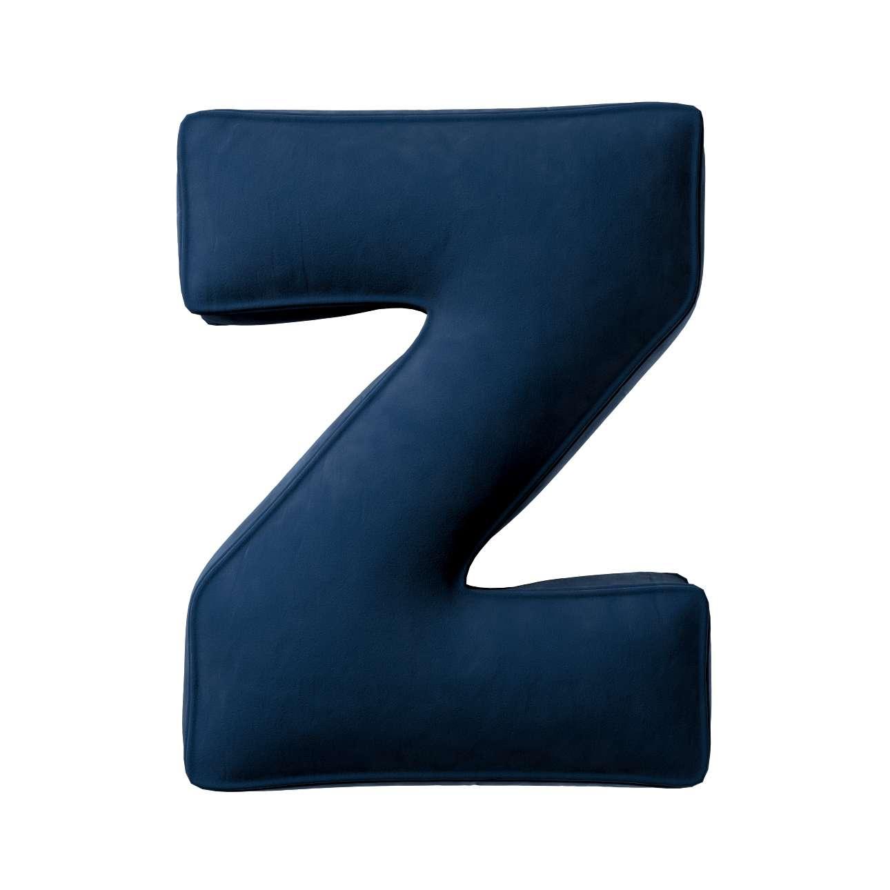 Buchstabenkissen Z von der Kollektion Posh Velvet, Stoff: 704-29