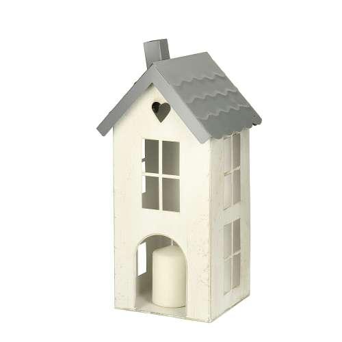 Laterne Home 39cm white