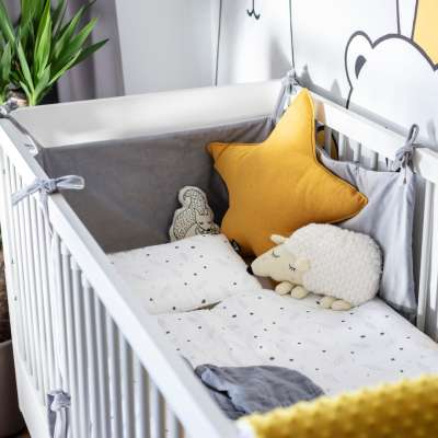 Crib rail cover in collection Happiness, fabric: 133-60
