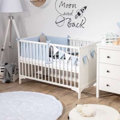 Crib rail cover in collection Happiness, fabric: 133-35