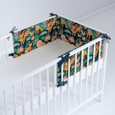 Ochraniacz do łóżeczka 500-44 biało-szara Kolekcja Magic Collection