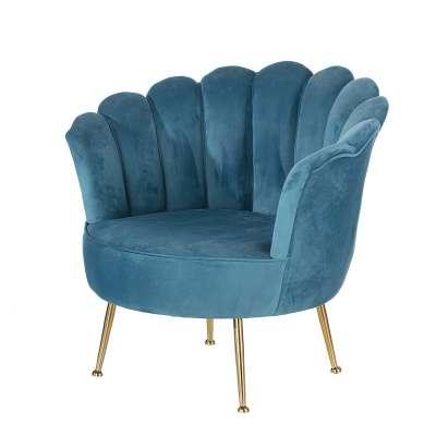 Sessel Sally Blue Glamouröse Möbel - Dekoria.de