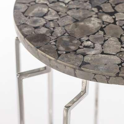 Beistelltisch Onyx Grey 64cm Moderne Möbel - Dekoria.de