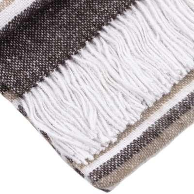 Pled Gana Brown&White 140x200 cm