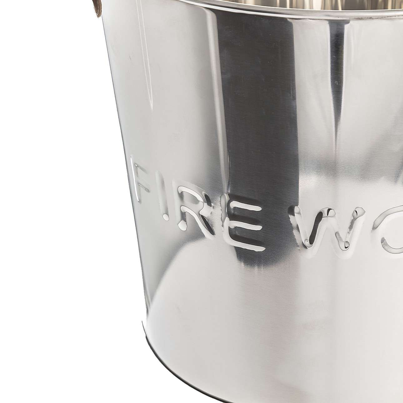Kaminholzkorb Wood Silver I