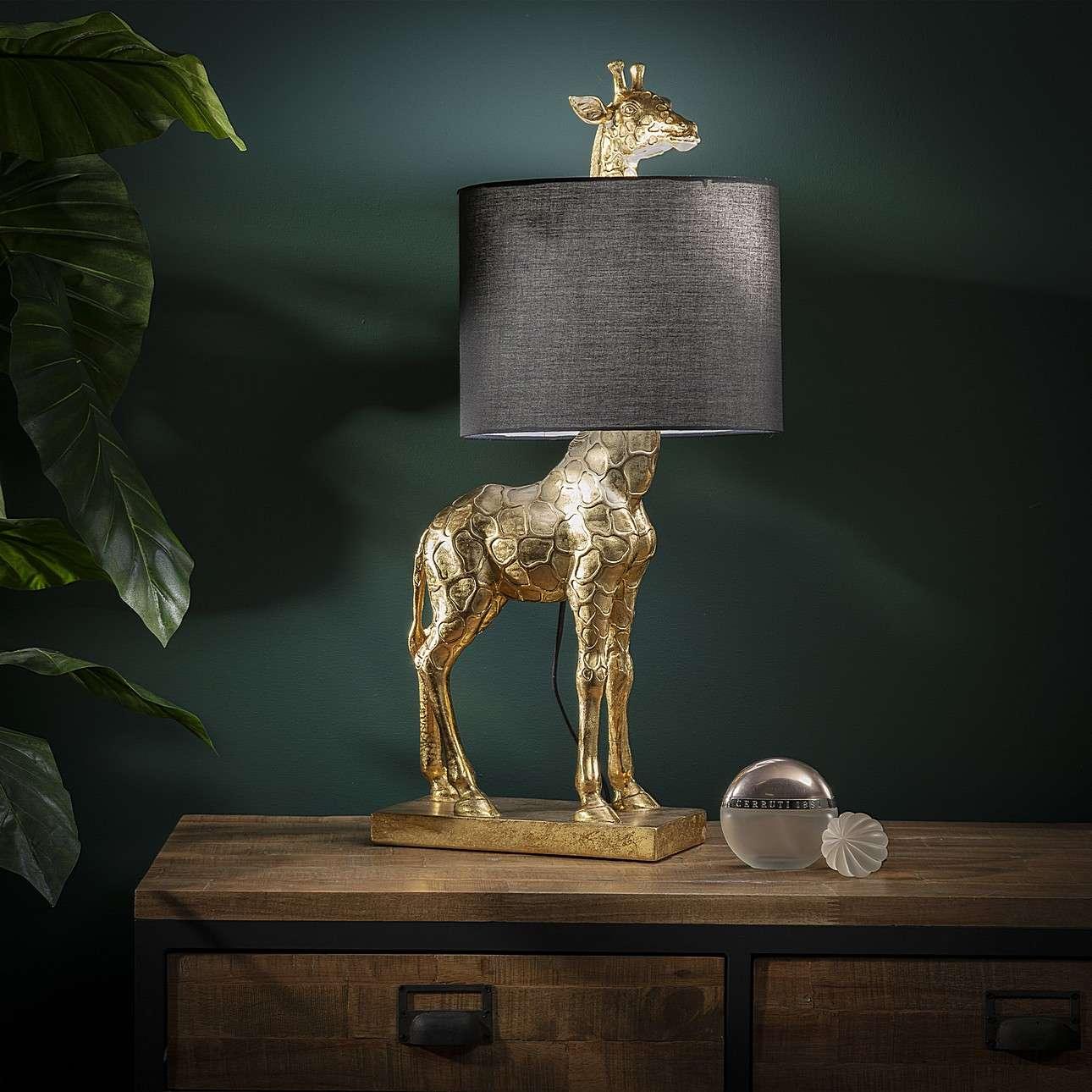 Velké dekorační  svítidlo Gold Giraffe výška 70cm