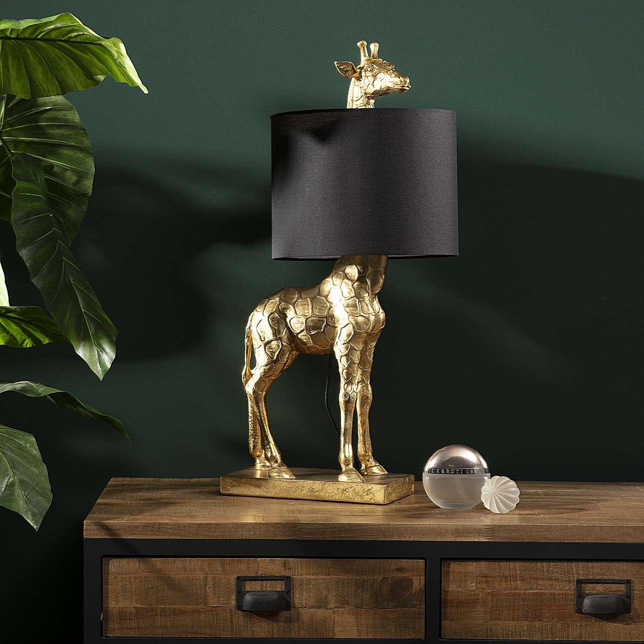 Tischlampe Gold Giraffe 70cm