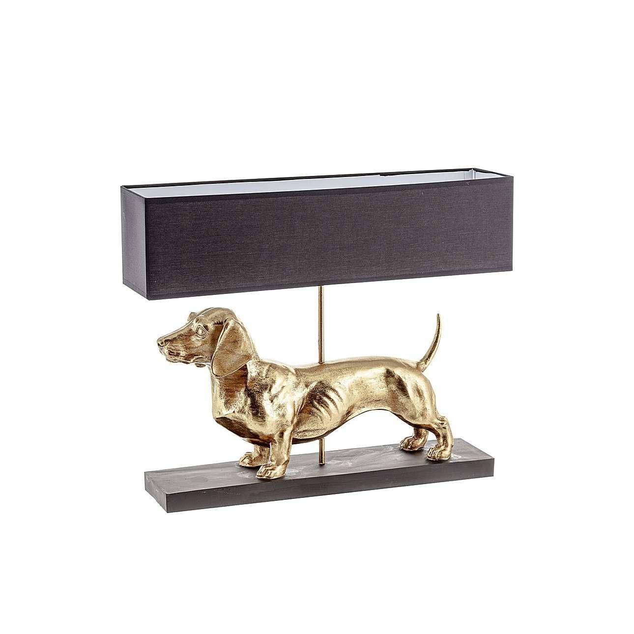 Dekorační stolní svítidlo Gold Dog výška 48cm