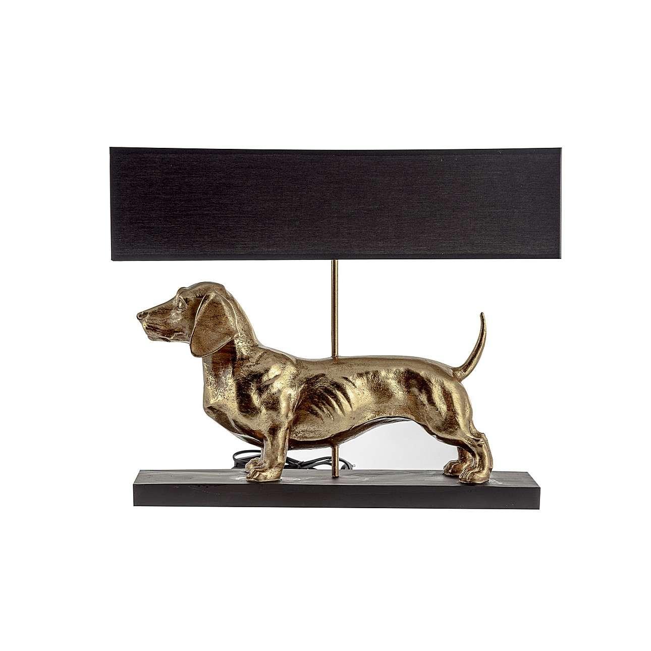 Tischlampe Gold Dog 48cm