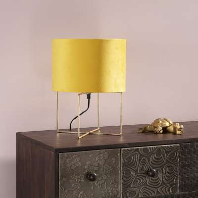 Tischlampe Trixi Gold 37 cm Tischlampen - Dekoria.de