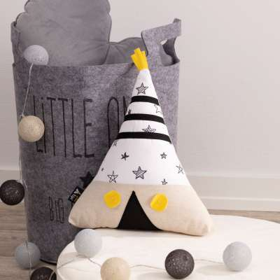 Yellow Tipi pillow