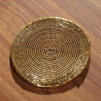 Sada podložek Gold 6ks, průměr 10cm
