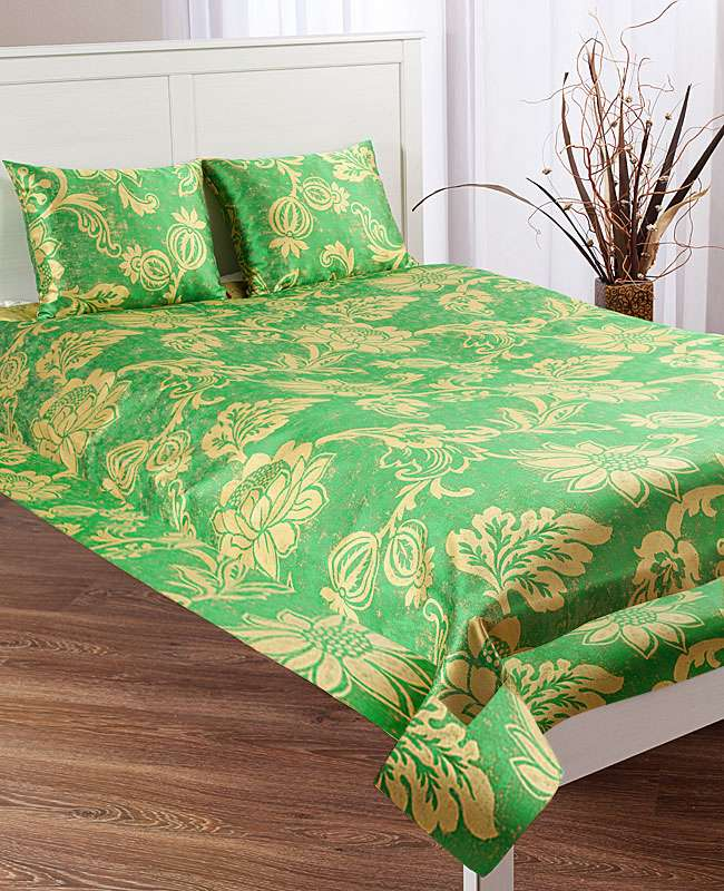 Pled Orinoko Green 180x220 cm z poduszkami komplet