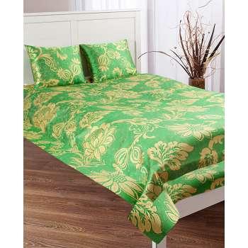Pled Orinoko Green 180x220 cm z poduszkami