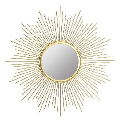 Zrcadlo  Stratos Gold průměr 50cm
