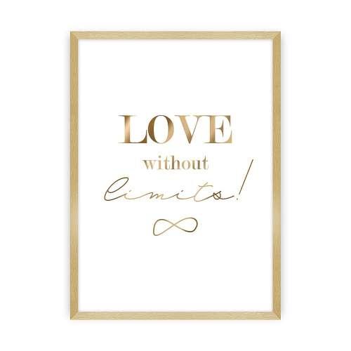 Wandbild Love Gold