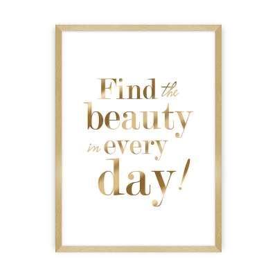 Wandbild Beauty Gold