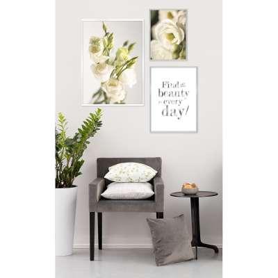 Framed print Beauty Silver Prints - Dekoria.co.uk